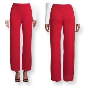 St. John Vintage Red Santana Knit High Waist Pants